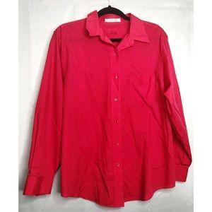Foxcroft red button down dress shirt 14